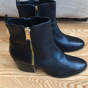 Mark Fisher boots.   Double zippers.